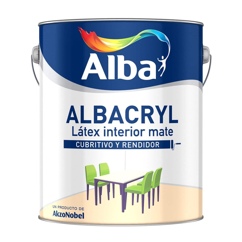 Albacryl 1 litro latex para interior mate blanco for Pintura latex interior