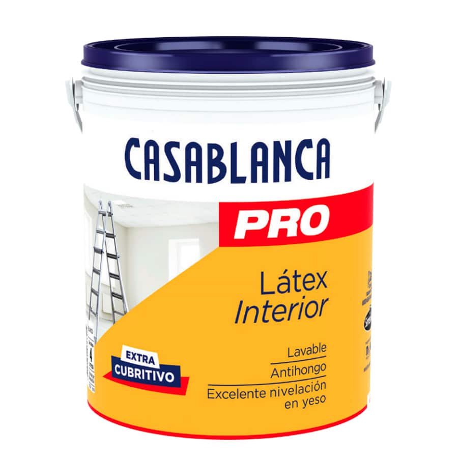 Casablanca pro 10 litros l tex interior pinturerias sagitario for Pintura latex interior