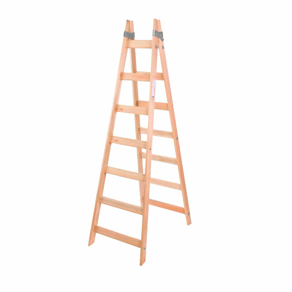 Escalera pintor de madera 7 escalones alpina pinturerias sagitario - Escalera de pintor de madera ...