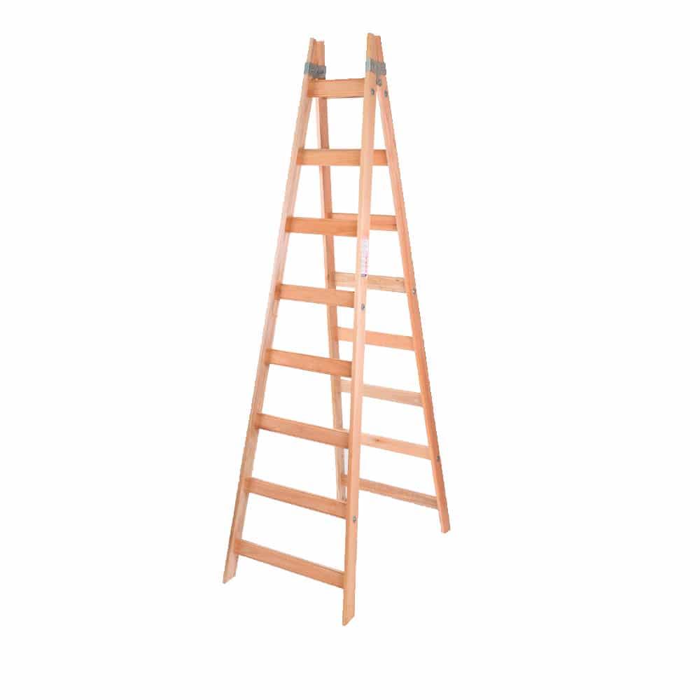 Escalera pintor de madera 8 escalones alpina pinturerias sagitario - Escalera de pintor de madera ...