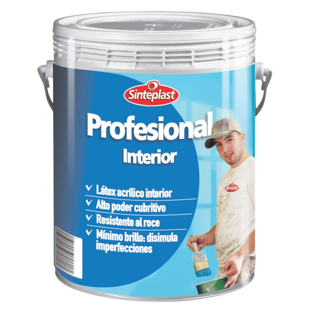 Pintura l tex interior mate profesional sinteplast 1 litro for Pintura latex interior